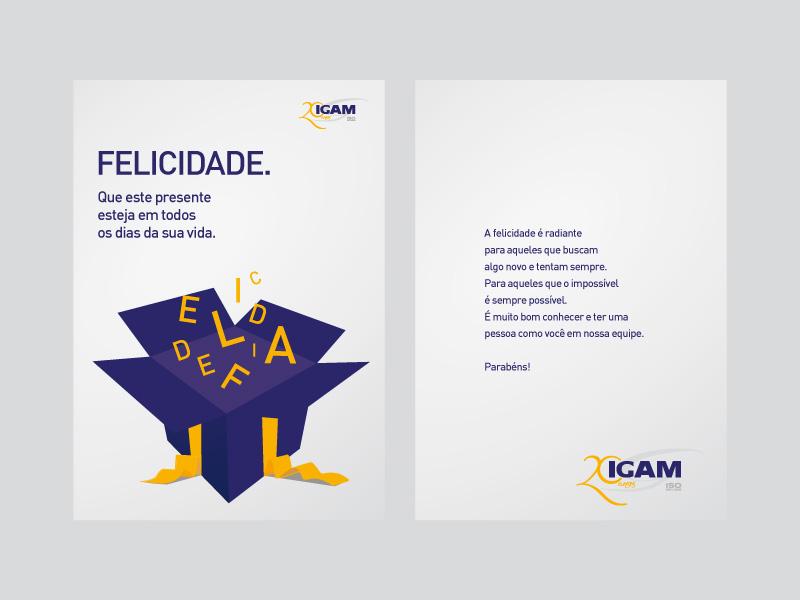 Cartão de aniversário IGAM