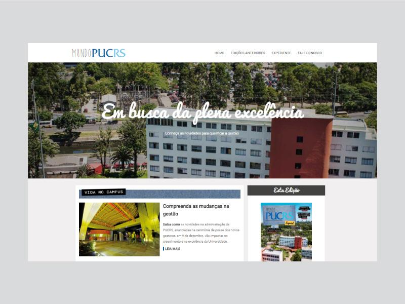 Site Mundo PUCRS